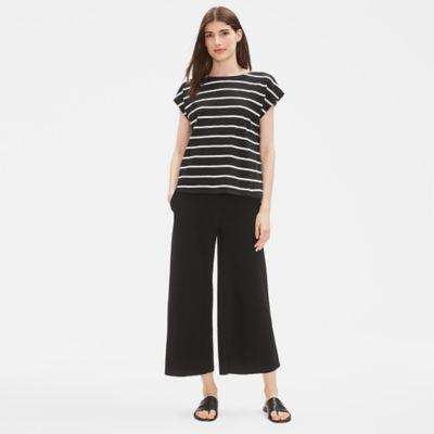 Organic Cotton Slub Striped Top