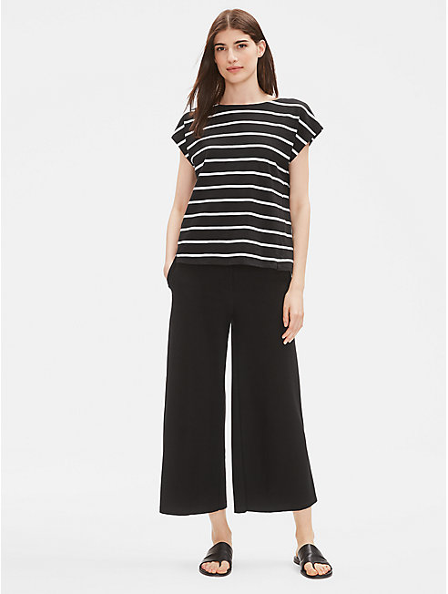 Organic Cotton Slub Striped Top