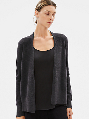 Fine Merino Cardigan in Responsible Wool