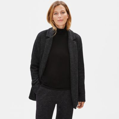 Knitted Wool Notch Collar Jacket