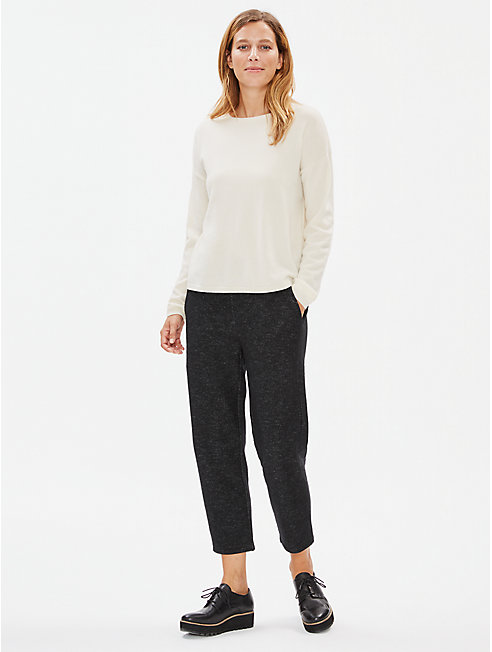 Knitted Wool Cropped Trousers