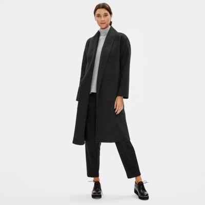 Brushed Wool Doubleface Shawl Collar Coat