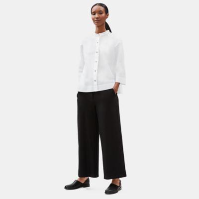 Organic Cotton Stand Collar Shirt