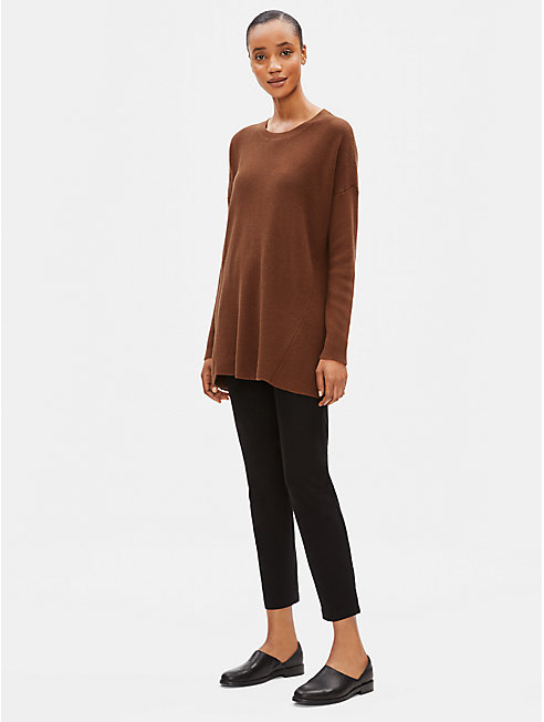 Organic Cotton Silk Round Neck Tunic