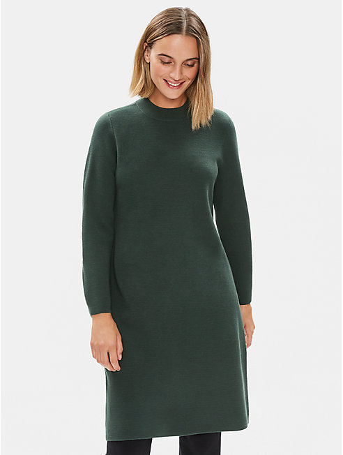 Luxe Merino Stretch Dress in Responsible Wool