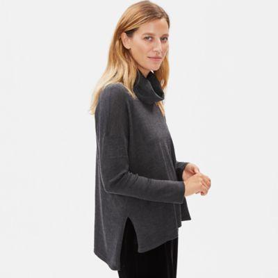 Ultrafine Merino Cowel Neck Top in Responsible Wool