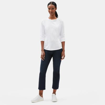 Organic Cotton Stretch Flare Cropped Jean