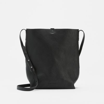 Grainy Italian Leather Bucket Bag