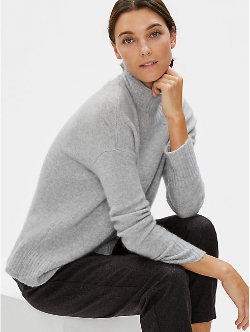 Cashmere Silk Boucle Bliss Box-Top
