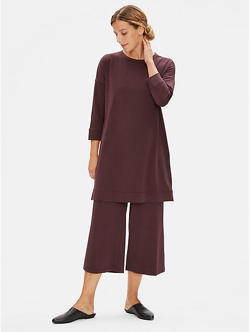 Organic Cotton Stretch Straight Cropped Pant