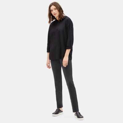 Organic Cotton Stretch Straight Pant