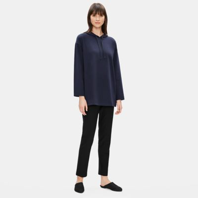 Organic Cotton Stretch Hooded Long Box-Top