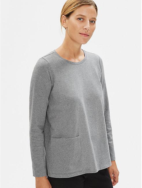 Heathered Organic Cotton Pocket Top