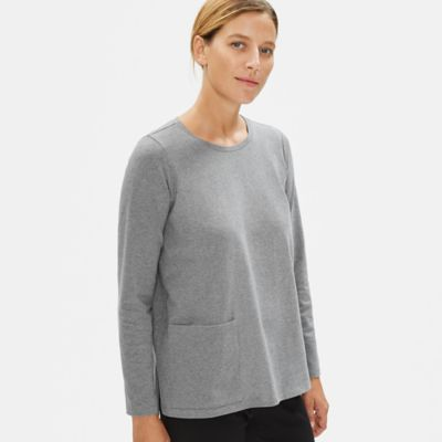Heathered Organic Cotton Pocket Top