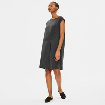Sandwashed Tencel Pleated Dress