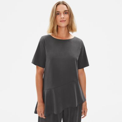 Sandwashed Tencel Asymmetrical Tunic