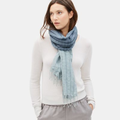 Airy Linen Cashmere Dip Dyed Scarf