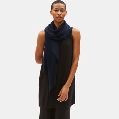 Pleated Tencel Blend Scarf