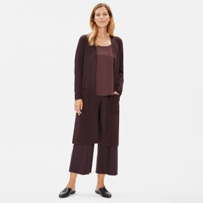 Luxe Merino Stretch Long Cardigan in Responsible Wool