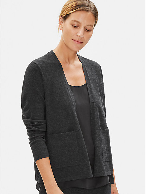 Luxe Merino Stretch Cardigan in Responsible Wool