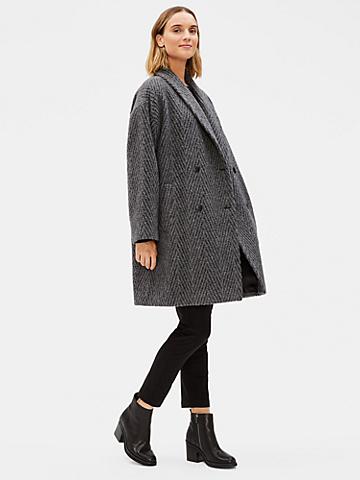 Lofty Alpaca Double-Breasted Coat