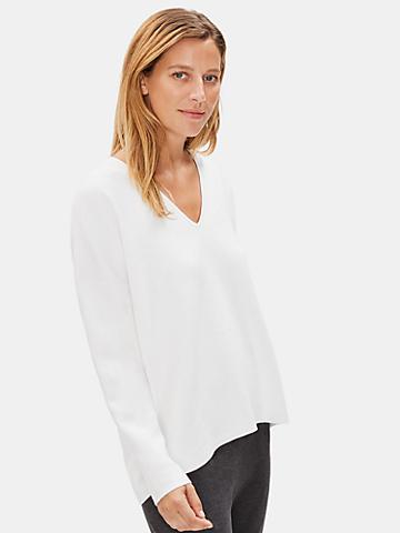 Soft Organic Cotton V-Neck Box-Top
