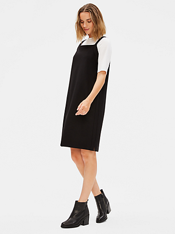 Washable Stretch Crepe Jumper Dress