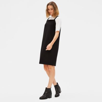 Washable Stretch Crepe Jumper Dress
