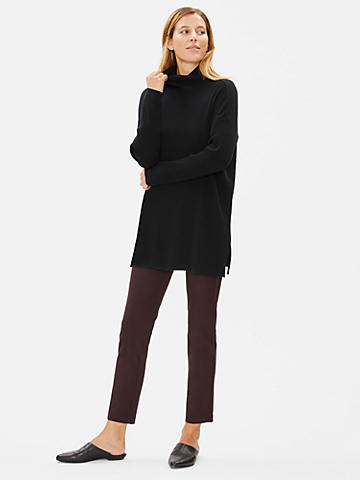 Washable Stretch Crepe Slim Pant