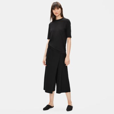 Washable Stretch Crepe Wrap Pant