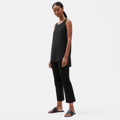 Washable Stretch Crepe Flare Ankle Pant