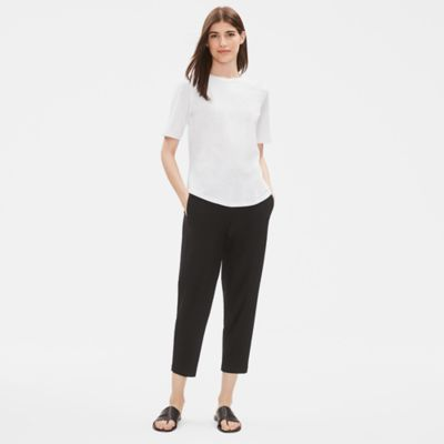 Lightweight Washable Stretch Crepe Slouchy Pant