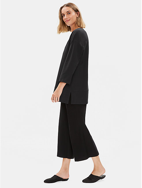 Lightweight Washable Stretch Crepe Tunic
