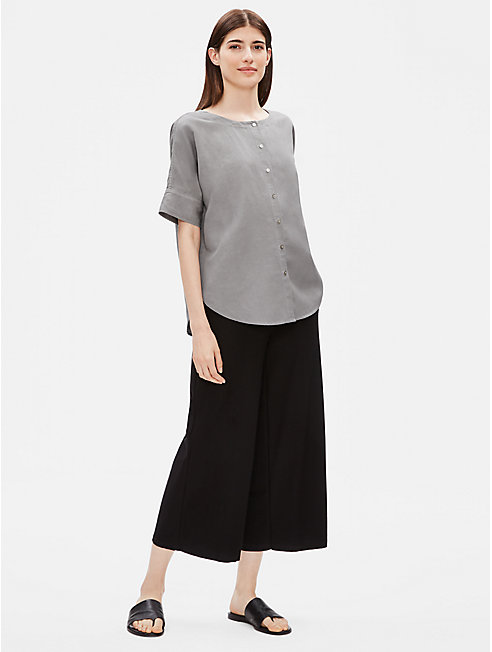 Tencel Linen Round Neck Shirt