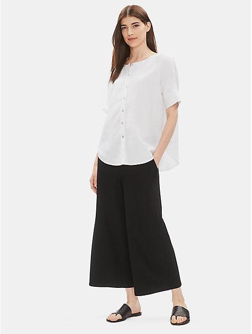 Tencel Linen Round Neck Shirt