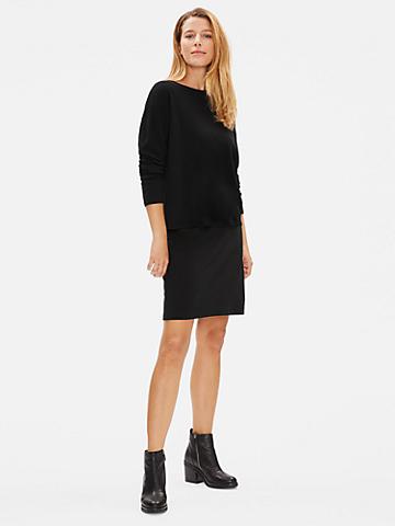 Tencel Ponte Slim Skirt