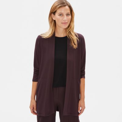 Tencel Stretch Terry Bracelet-Sleeve Jacket