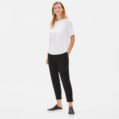 Tencel Stretch Terry Slouchy Ankle Pant