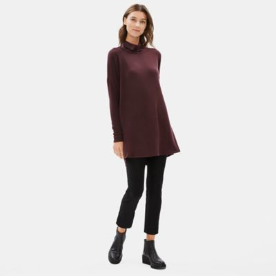 Tencel Stretch Terry Turtleneck Tunic