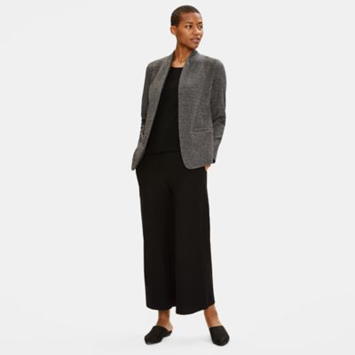 Tweedy Organic Cotton Knit Blazer