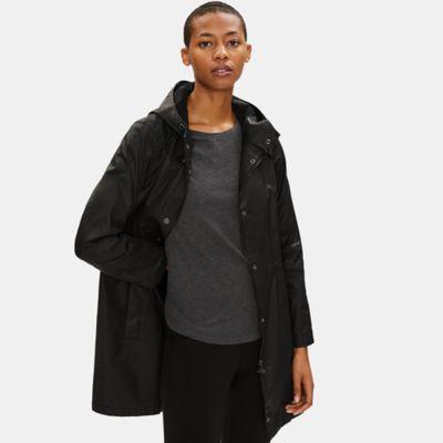 Waxed Organic Cotton Stretch Twill Anorak Jacket