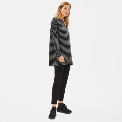 Tencel Stretch Terry Striped Tunic