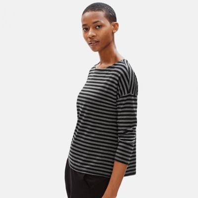 Tencel Stretch Terry Striped Top