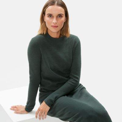 Luxe Merino Stretch Mock Neck Top in Responsible Wool