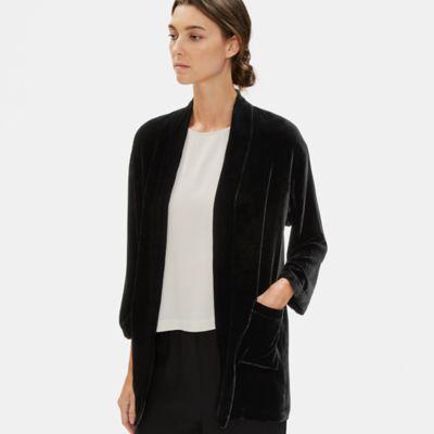 Velvet High Collar Jacket