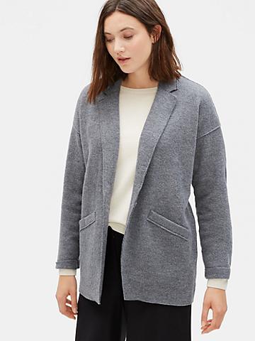 Boiled Wool Slouchy Jacket in Responsible Wool