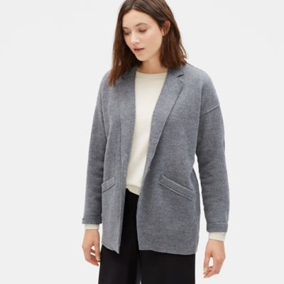 Boiled Wool Slouchy Jacket in Responsible Wool