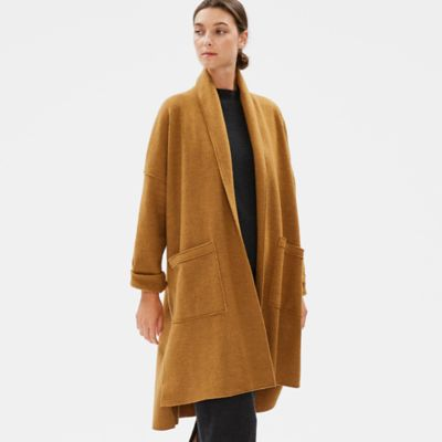 Boiled Wool Shawl Collar Jacket in Responsible Wool