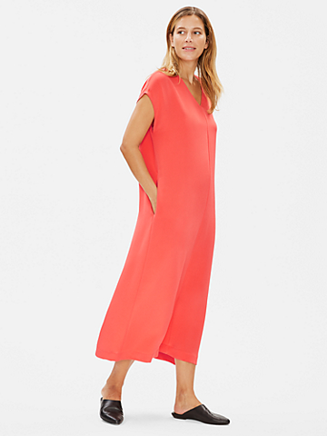 Limited Edition Silk Double Crepe Column Dress