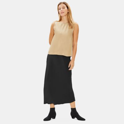 Limited Edition Silk Double Crepe Bias Skirt